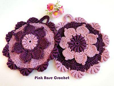 PINK ROSE CROCHET /: Resultados da pesquisa pega panelas flor