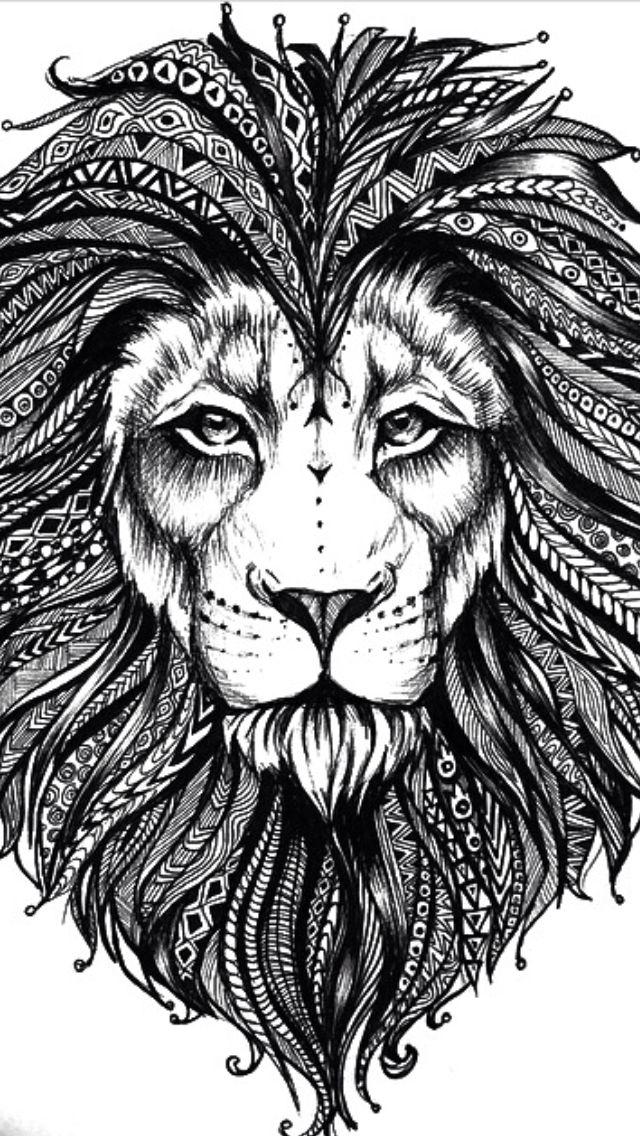 Голова льва картинки для тату