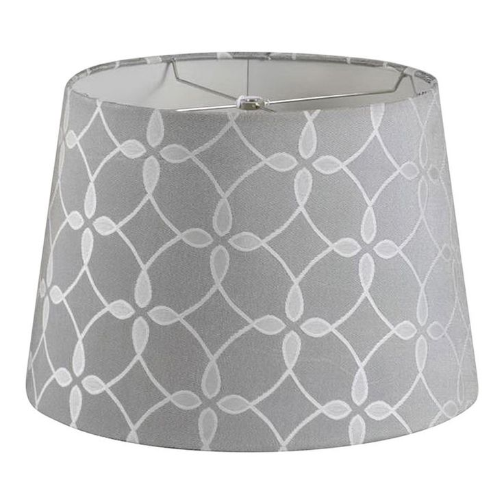 Gray Flower Pattern Drum Lamp Shade 12x15x10 In Home