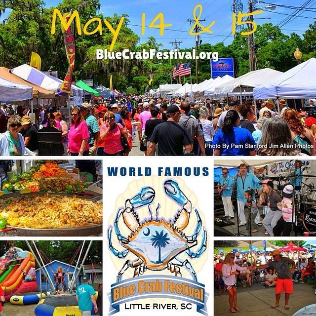 It's almost here! Who's ready for the World Famous Blue Crab Festival? #LRBlueCrab #LittleRiverSC #Festival #FamilyFun #Bikers #LiveEntertainment #BeachMusic #Seafood http://ift.tt/25F1AsZ