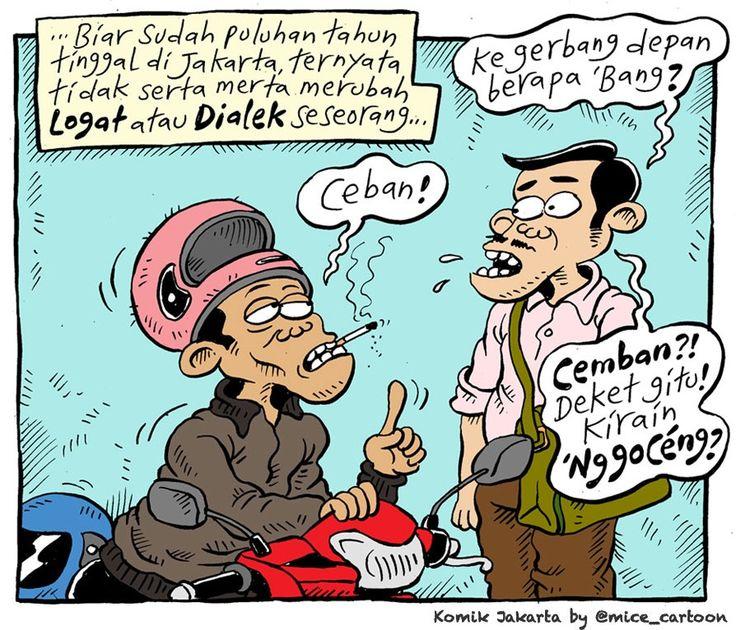 Mice Cartoon, Komik Jakarta - Mei 2015: Dialek Bahasa Lokal
