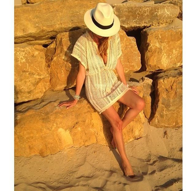 The sun prepares to set on another perfect Summer's day. We wouldn't be caught #seaside without our go-to @AncientKallos Lace Beach #Kaftan. Shop the collection and stock up for your beach holidays now! #wecreateharmony #ancientkallos  Shop the look here ▷ http://bit.ly/1MESMbA Shop the collection here ▷ http://bit.ly/1MESPEb