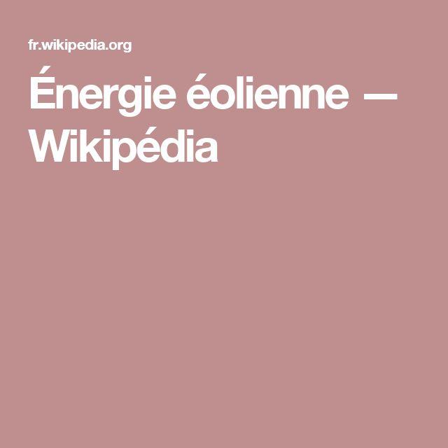 Énergie éolienne — Wikipédia