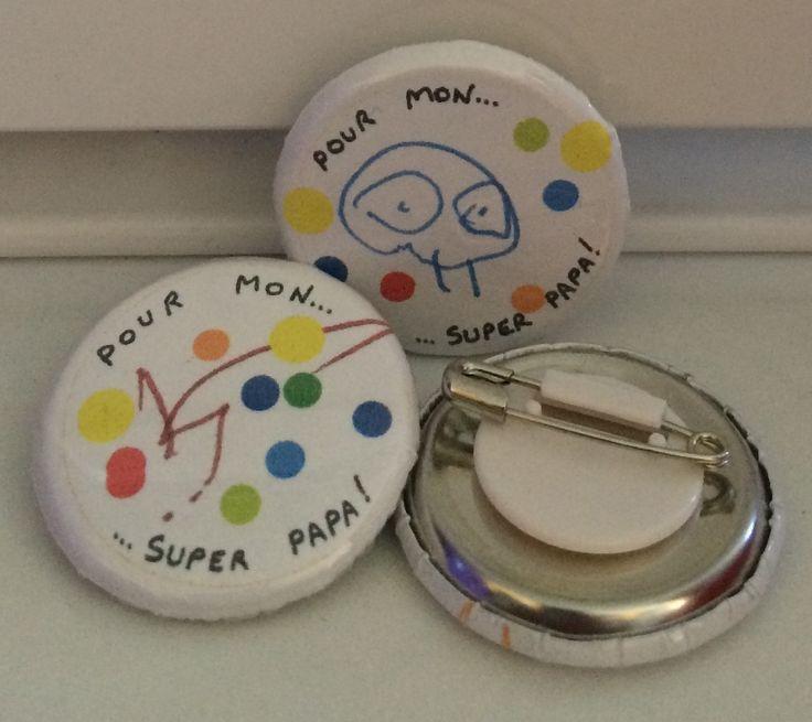 """Badge pour """"super papa"""""""