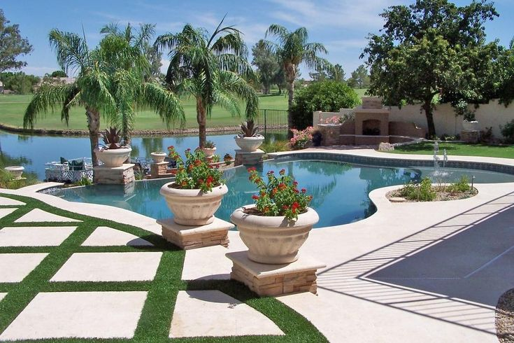 Arizona Landscape Swimming Pool Provided By Unique Custom Pools