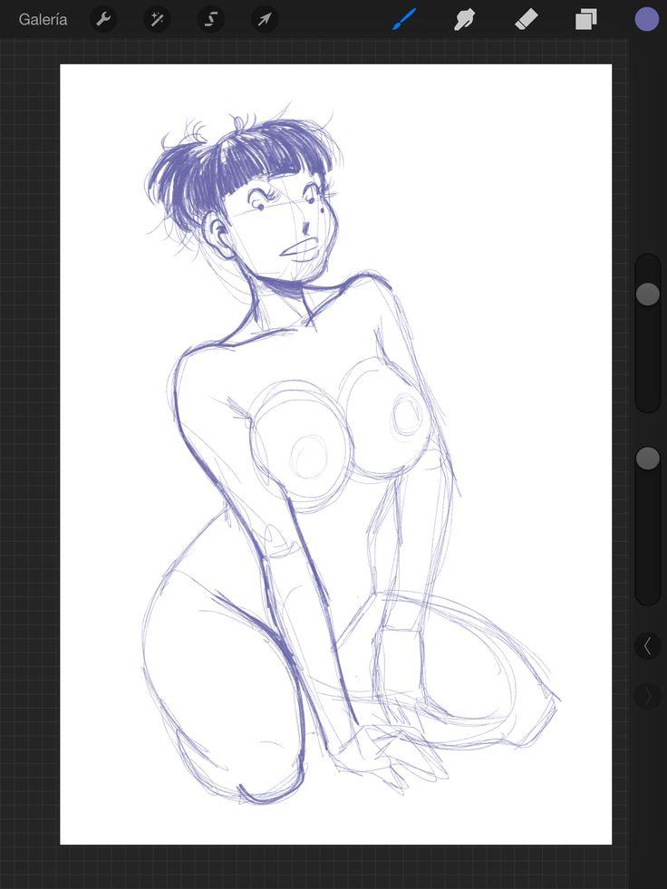 Dibujando en el iPad.