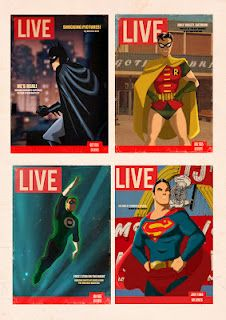 Super Heroes covers