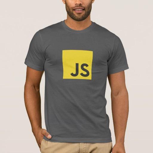 Javascript Logo T-Shirt (Dark Grey). Producto disponible en tienda Zazzle. Vestuario, moda. Product available in Zazzle store. Fashion wardrobe. Regalos, Gifts. #camiseta #tshirt #programmer #nerd #sheldon