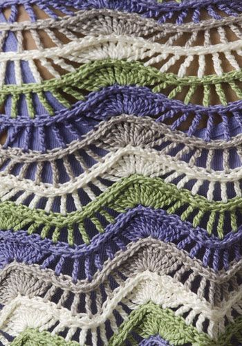 Pattern for scarf....interesting texture.  Would be really lovely in one color.