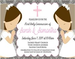 72e03395c6644af14a494f12c30a0c85 twin girls boys and girls 13 best images about communion on pinterest,First Communion Invitations For Boy Girl Twins