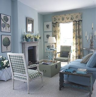 Traditional Blue And White Living Room Part 74