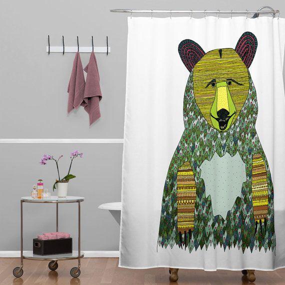 Bear Shower Curtain Bear Shower Curtain By