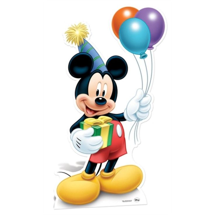 Картинка с микки маусом с днем рождения