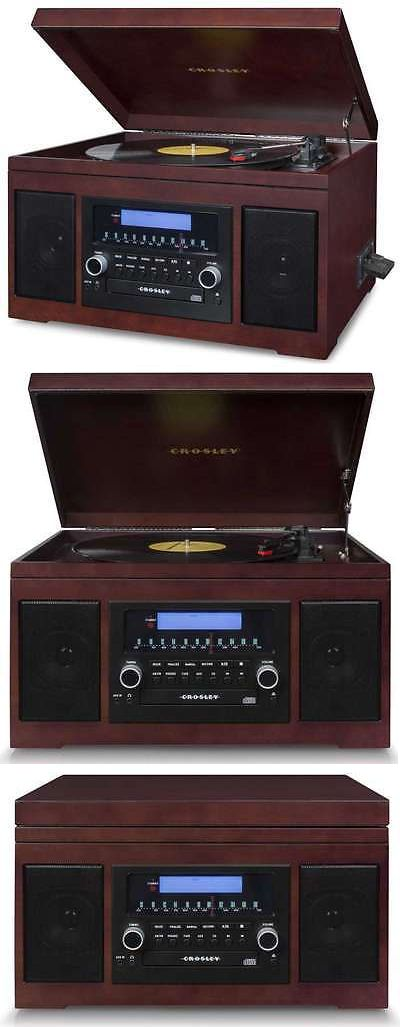Record Players Home Turntables: Record Player Turntable Record Lp Album/ Cassette To Built In Cd Recorder Burner BUY IT NOW ONLY: $329.95