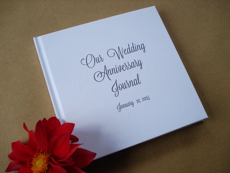 Wedding Anniversary Journal · Anniversary Scrapbook · Paper Anniversary Gift · Wedding Anniversary Keepsake. Order Custom, or choose from our in stock designs. Get your free cover mock up today.