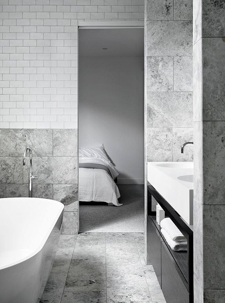 Portsea Hideaway. Marble BathroomsWhite BathroomsGrey ...