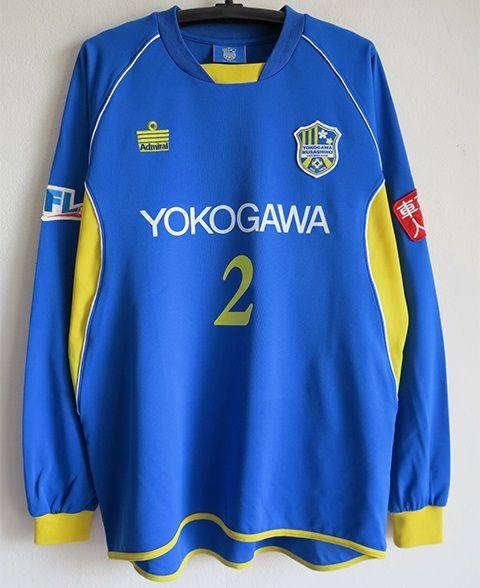 JFL 横河武蔵野FC 選手実使用 HOME長袖ユニフォーム XOサイズ_画像1