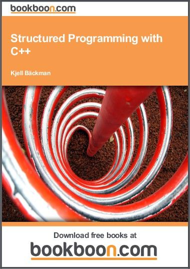 nice Intro FREE book to Structured Programming with C++