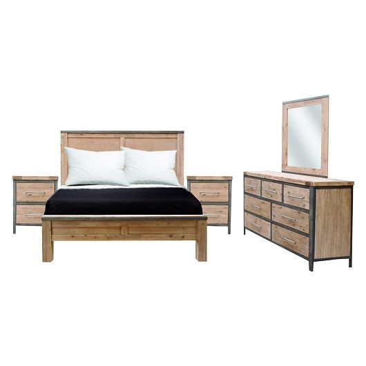 Mobilier de chambre coucher queen 60 po au design for Meuble quebecois contemporain