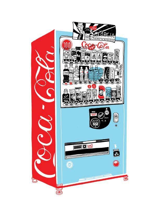 vending machine screen print by Hennie Haworth