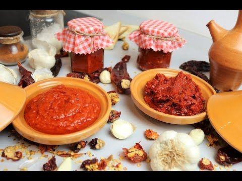 Recette Harissa Tunisienne (sauce piquante) Recipe Tunisian Harissa (chili sauce) - YouTube