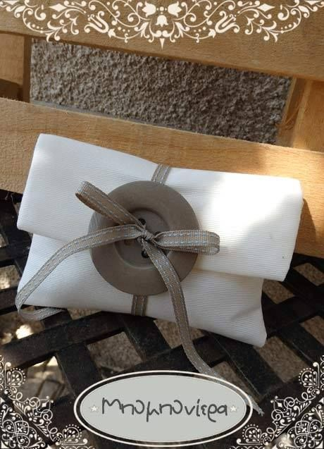 Envelope com Botão - Porta Amêndoa