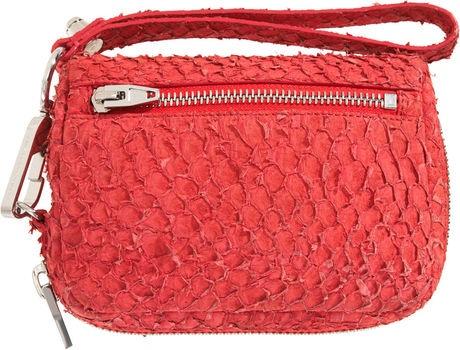 #handbag made of fish leather (perch)   Design by #AlexanderWang
