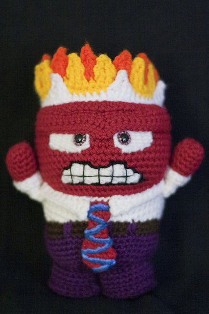 Inside Out Amigurumi Patterns : Anger (Inside Out) Amigurumi Pattern pattern by Allison ...