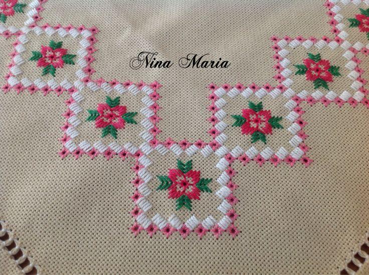 Nina Maria ❤️ bordado em ponto reto