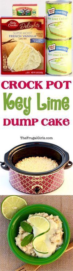 Crock Pot Key Lime Dump Cake