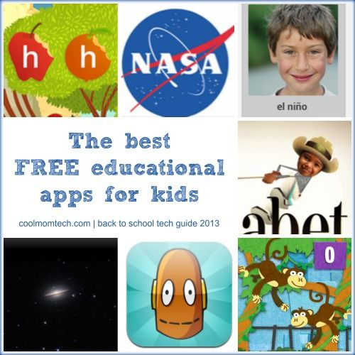 Great list of the best FREE educational apps for kids of all ages. So many good ones!
