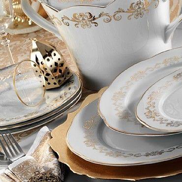 Kütahya Porselen Lindos 12 Kişilik 83 Parça 8580 Desen Yemek Takımı