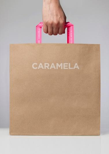 Caramela branded shopping bag