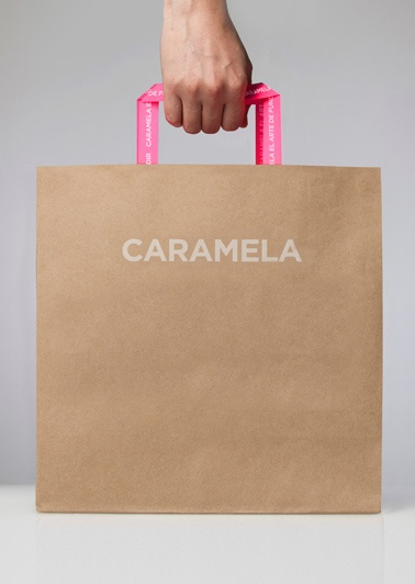Caramela branded shopping bag