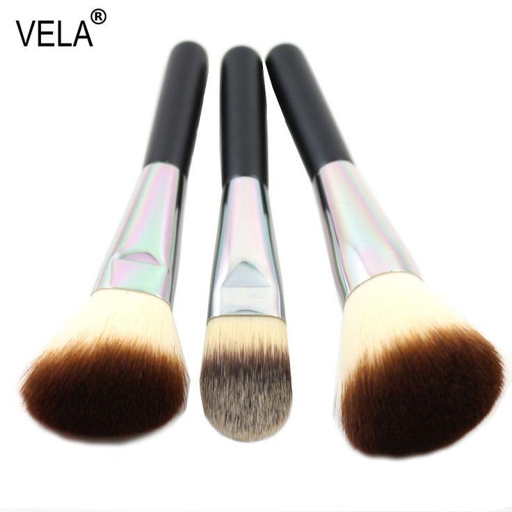 Premium Face Makeup Brushes Set 3 Pieces Powder Blush Foundation Brush