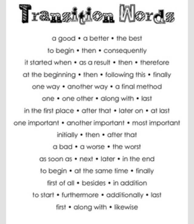 best english images english english language  wondering which transition words to use here s a cute poster of common transitions