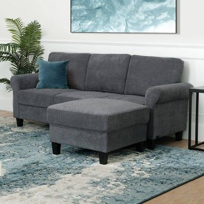 Swell Francis Fabric Sofa Ottoman Set Charcoal Abbyson Living Alphanode Cool Chair Designs And Ideas Alphanodeonline