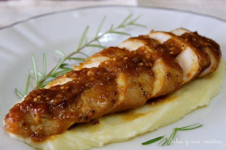 PAVO A LA MOSTAZA ANTIGUA | Cocinar en casa es facilisimo.com