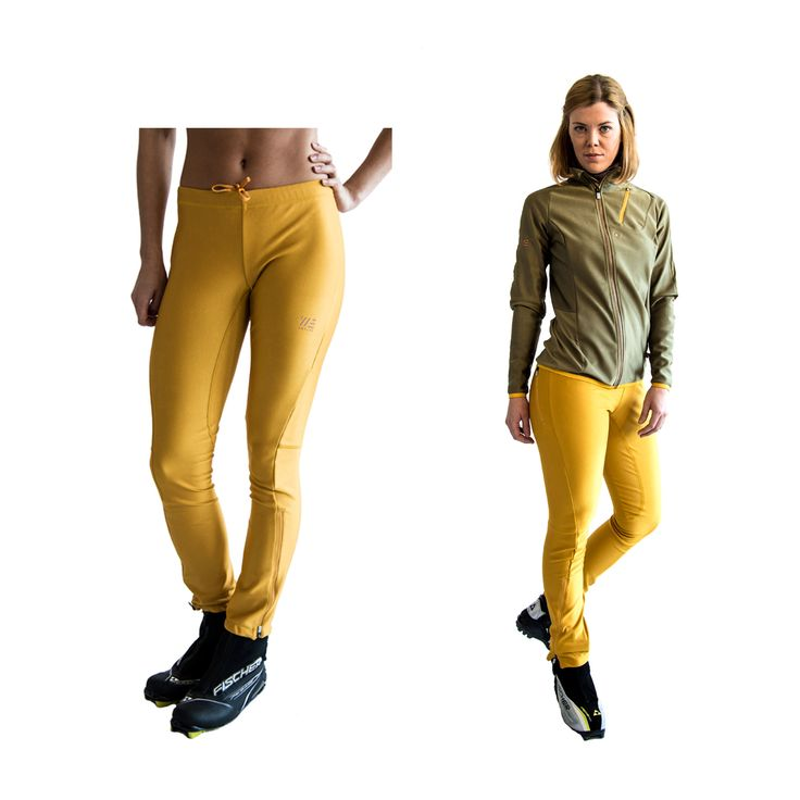 SWEARE XC 360 Pant in the color Yellow spark. It doesn't matter if you go classic- or skate skiing, the pant allows for movement in all directions and won't rip or hinder you and it has excellent breathability and very good water repellency. This pant are perfect for autumn and winter running and of course for XC skiing. All fabrics are manufactured in Sweden and Switzerland from high quality vendors. All design and development made in Åre, Sweden. #älskasnö #vasaloppet #längdskidåkning