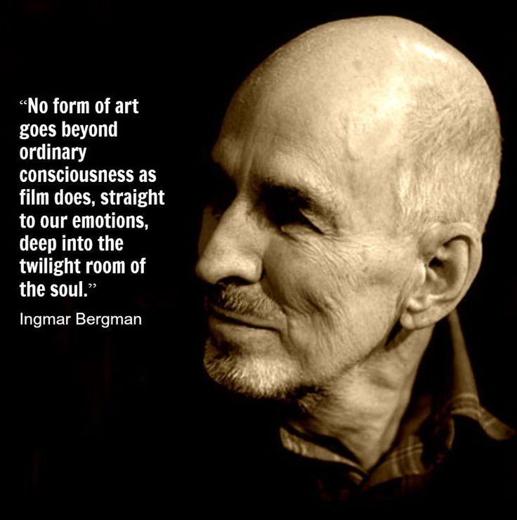 Film Director Quote - Ingmar Bergman - | Film study | Pinterest | Film, Movies and Film director