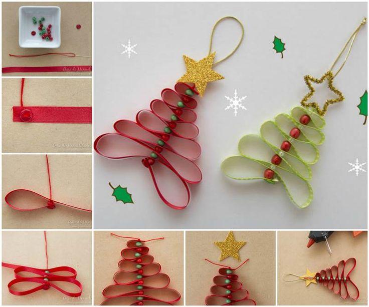 Idées créatives - Ruban Adorable bricolage et Perles Arbre de Noël