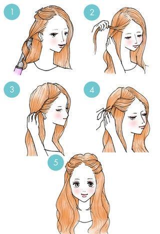Hairstyle Tutorial on We Heart It красивая причёска на 1 сентября