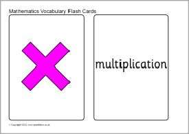 Maths vocabulary flash cards - large (SB9774) - SparkleBox