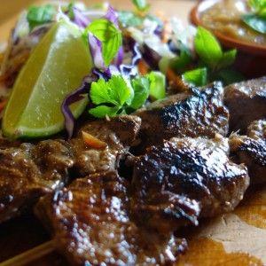 Beef Satay w Asian Slaw