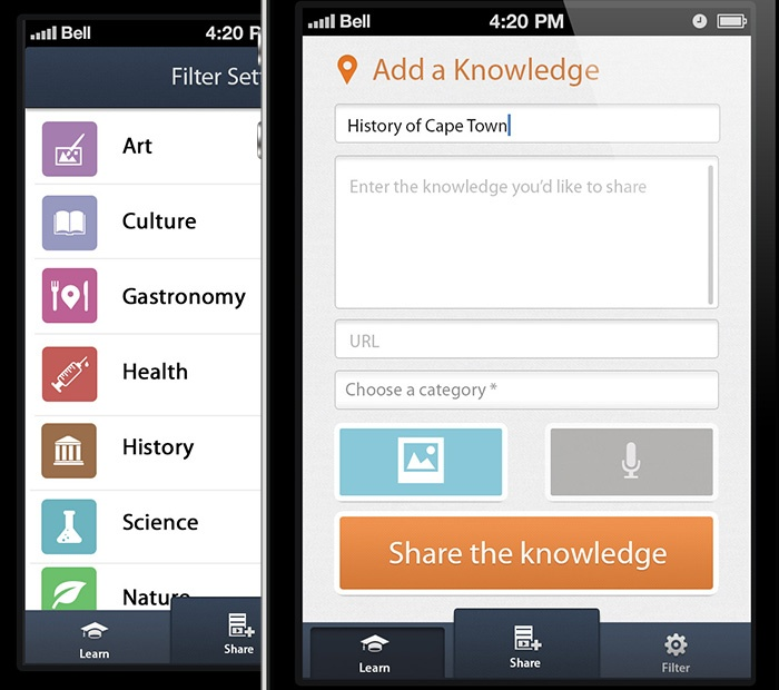 Learn Around, application iPhone