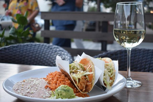 Luna Modern Mexican Kitchen On Instagram Having A Hectic Morning Come Unwind With A Few Sips Of Wine Fresh And Tasty Fis Fish Tacos Mexican Kitchens Tasty