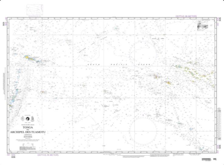 Tonga To Archipel Des Tuamotu (Omega) (NGA-606-1) by National Geospatial-Intelligence Agency