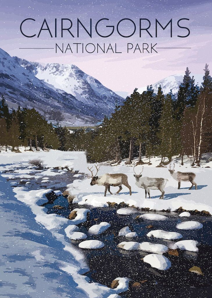 Cairngorms National Park Poster Cairngorms National Park National Park Posters Cairngorms