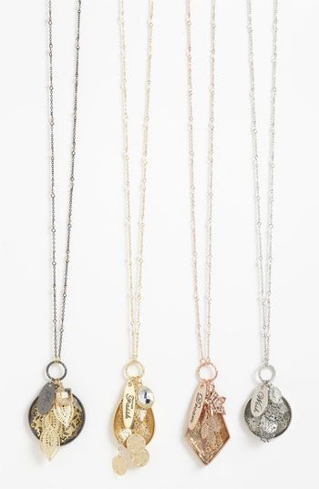 Nordstrom 'Tinseltown' Long Cluster Pendant Necklace available at #Nordstrom