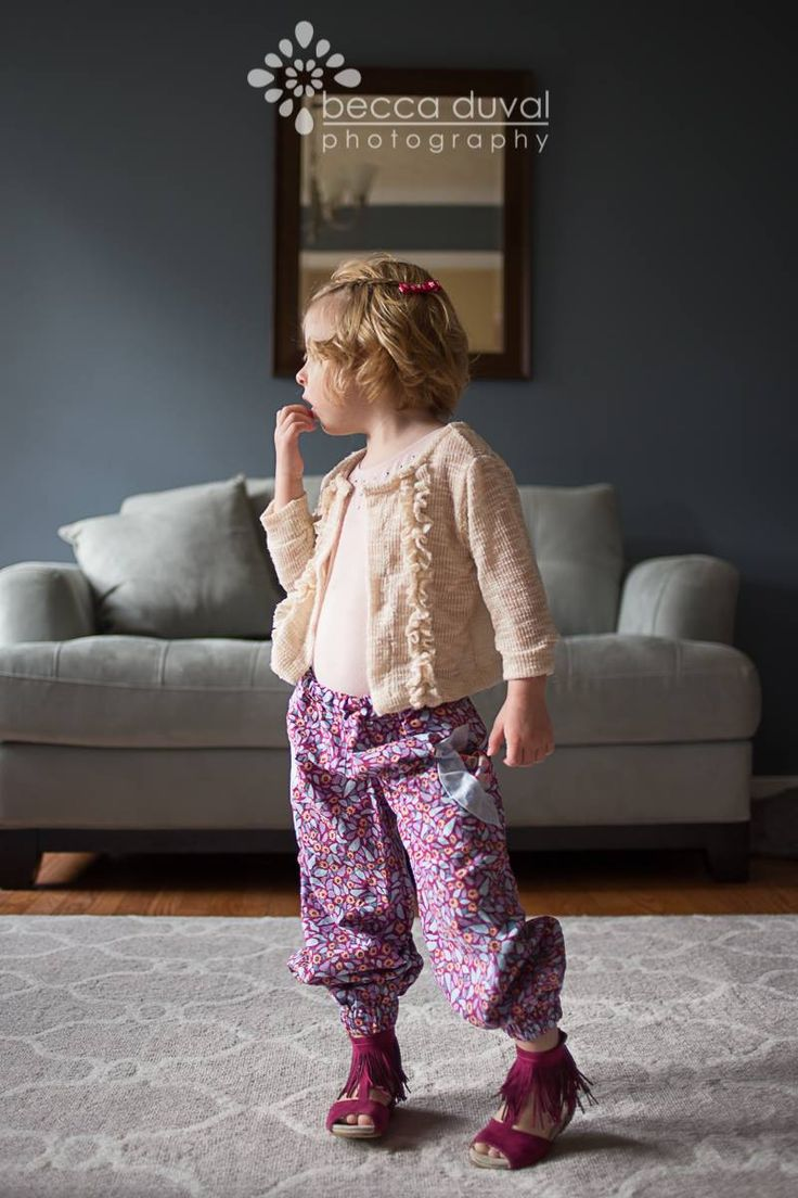 Adorable Little Miss Fancy Pants - Girls Harem Pants PDF Pattern